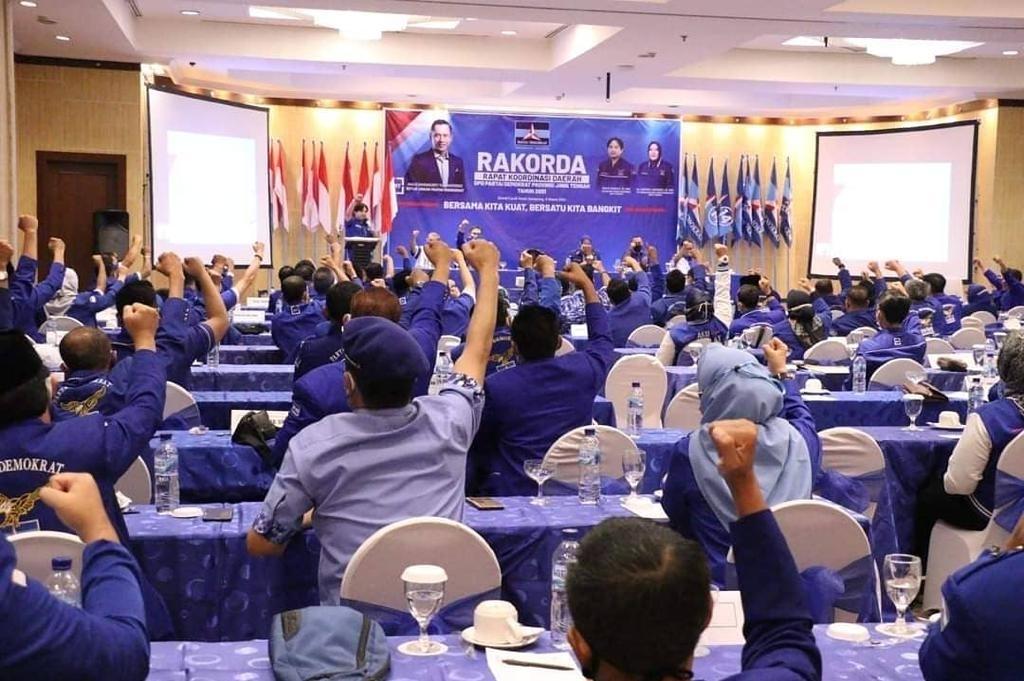 Hasil Rakorda Jateng 2021, 35 DPC & Seluruh Kader Partai Demokrat, Tolak KLB di Deli Serdang