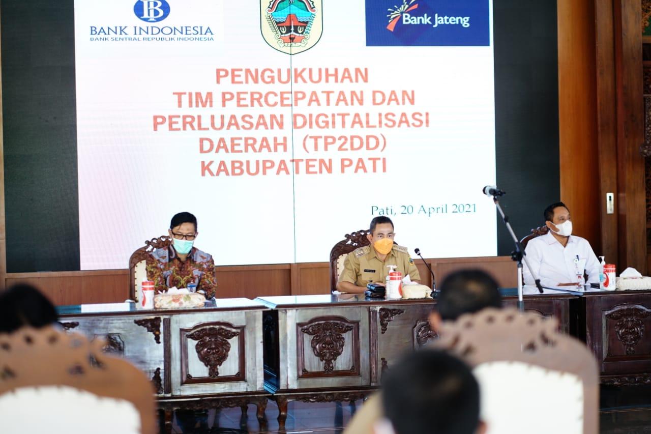 Cegah Penyimpangan, Bupati Haryanto Kukuhkan TP2DD Kabupaten Pati