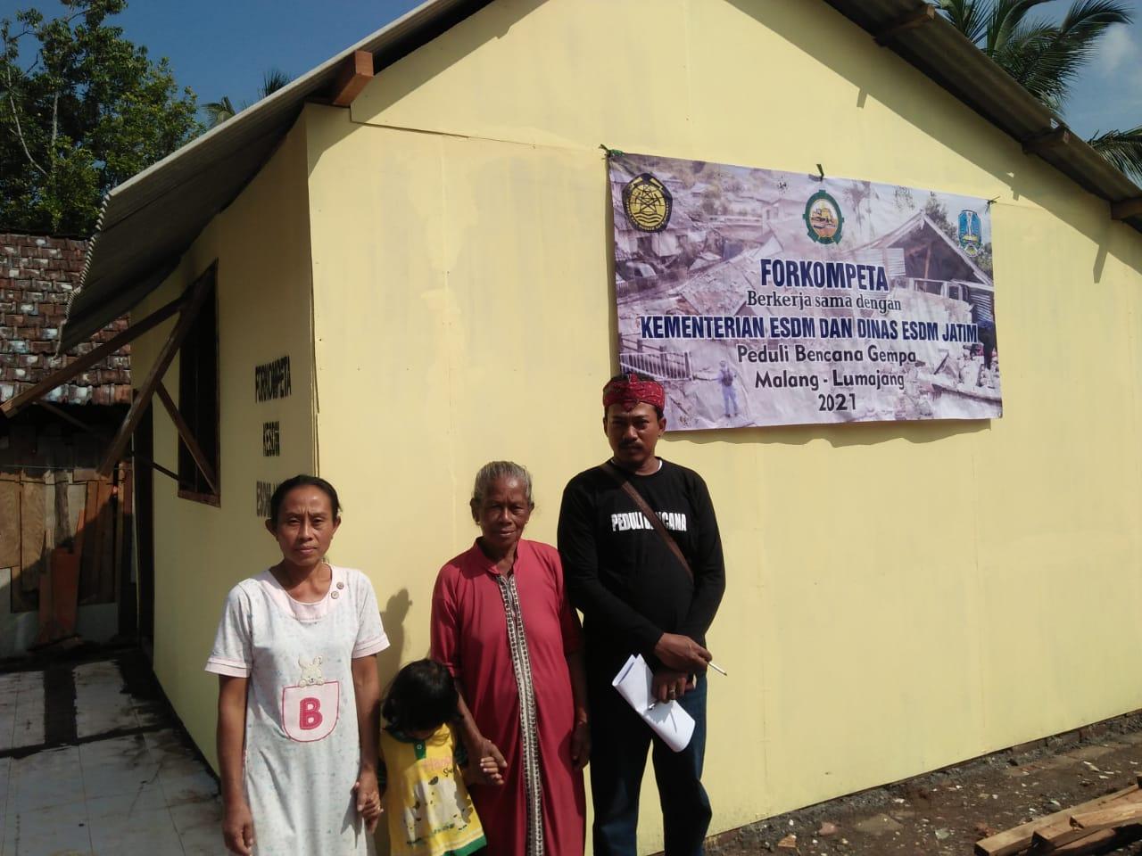Forkompeta Bantu Bangun Rumah, 200 Sembako dan 3 Tandon Air