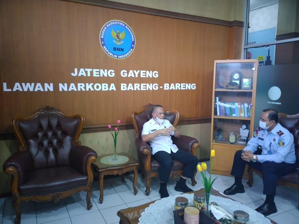 Jalin Sinergitas Antar APH, Kalapas Pati Gelar Audensi bersama BNNP Jawa Tengah