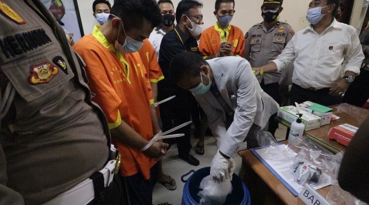 Ditresnarkoba Polda Kepri Musnahkan Barang Bukti Narkotika jenis Sabu