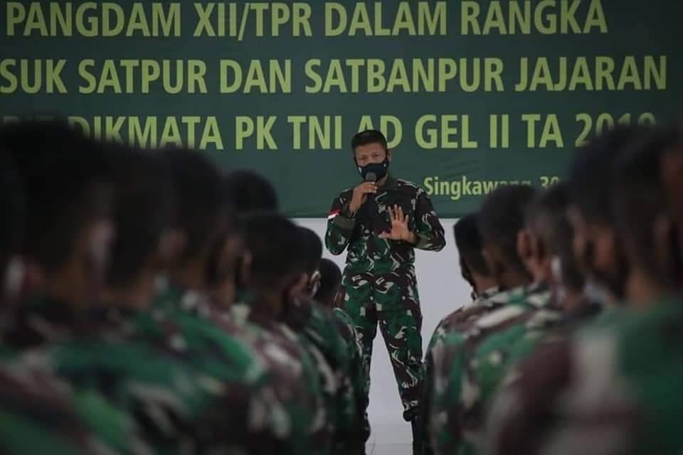 Pangdam XII/Tpr: Prajurit TNI memiliki Sikap & Bermental Baja yang Selalu Siap Berjuang untuk Membela Ibu Pertiwi