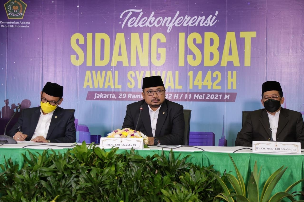 Gelar Sidang Isbat, Pemerintah menetapkan 1 Syawal 1442 Hijriah, Jatuh pada Hari Kamis tanggal 13 Mei 2021