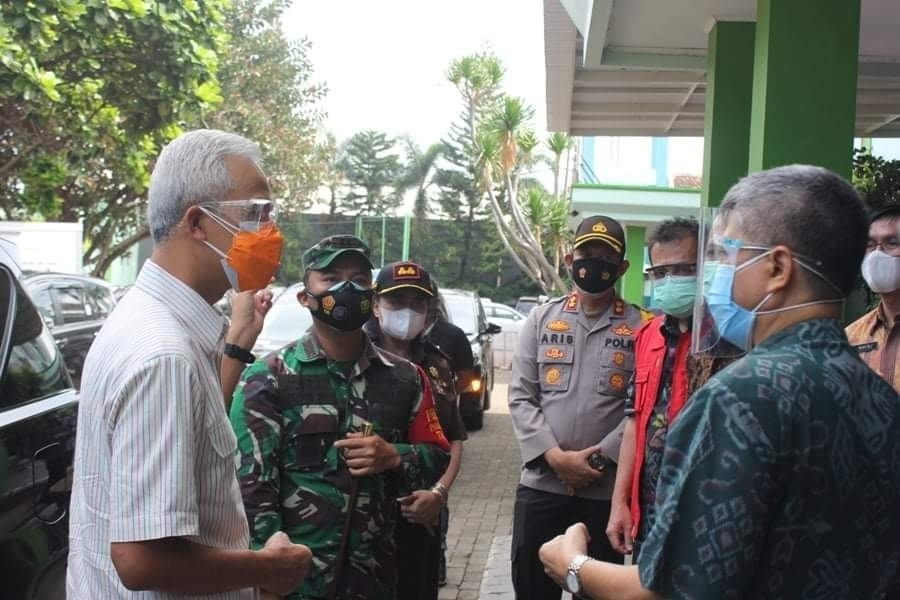 Dandim 0719 bersama Jajaran Forkompimda Dampingi Kunker Gubernur Jateng di Jepara
