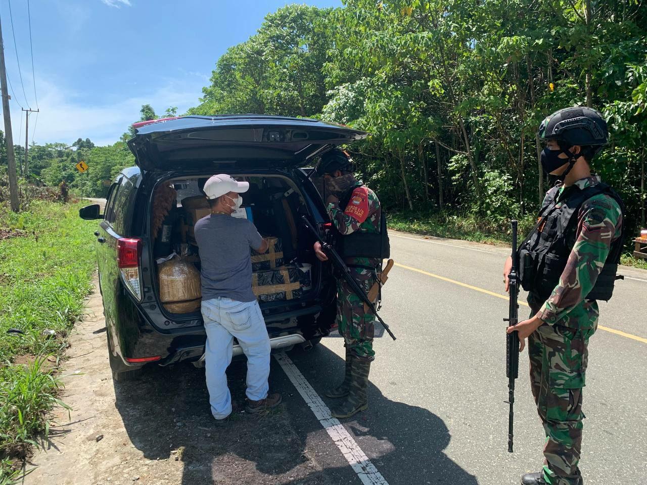 Jaga Stabilitas Keamanan, TNI gelar Sweeping, Cegah barang Ilegal di Perbatasan RI-PNG