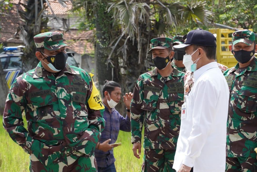Dampingi Tim Wasev Mabes TNI, Bupati sebut Capaian Pembangunan TMMD harus Dipelihara