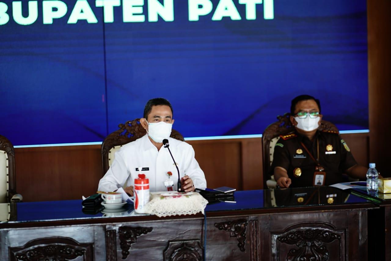 Rakor Bersama Gubernur Jateng Bupati Haryanto sebut Tiga Poin Utama dalam Penanganan COVID-19