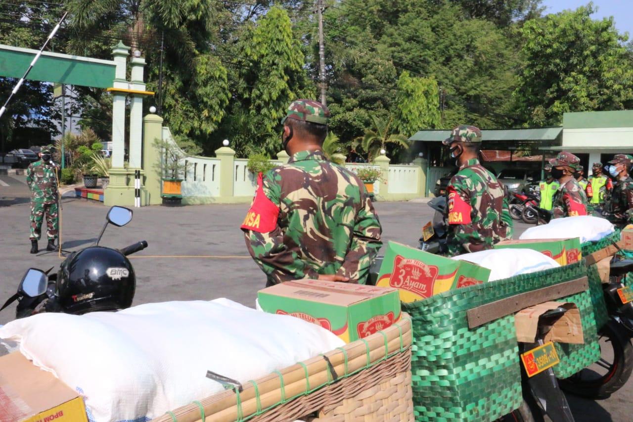 PPKM Darurat di Perpanjang hingga 25 Juli, Kodim 0718/Pati salurkan 900 Paket Bantuan Pangan kepada Masyarakat